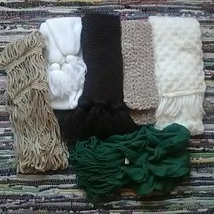 Knit Scarf Lot of 6